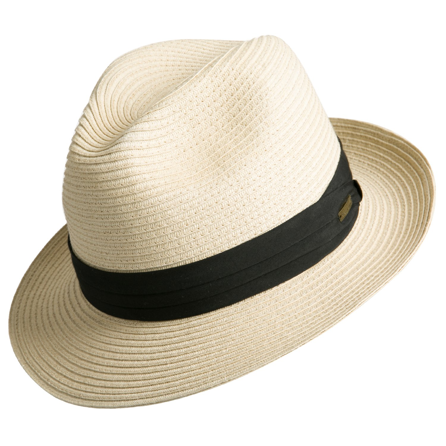 8656faade46d1c Sedancasesa Women and Men's Straw Fedora Panama Beach Sun Hat Black Ribbon  Band at Amazon Men's Clothing store: