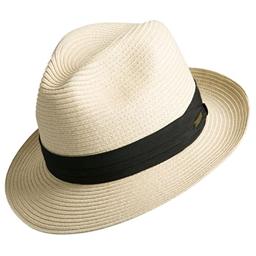 3738352ee24 Image Unavailable. Image not available for. Color  Sedancasesa Women and Men s  Straw Fedora Panama Beach Sun Hat Black ...