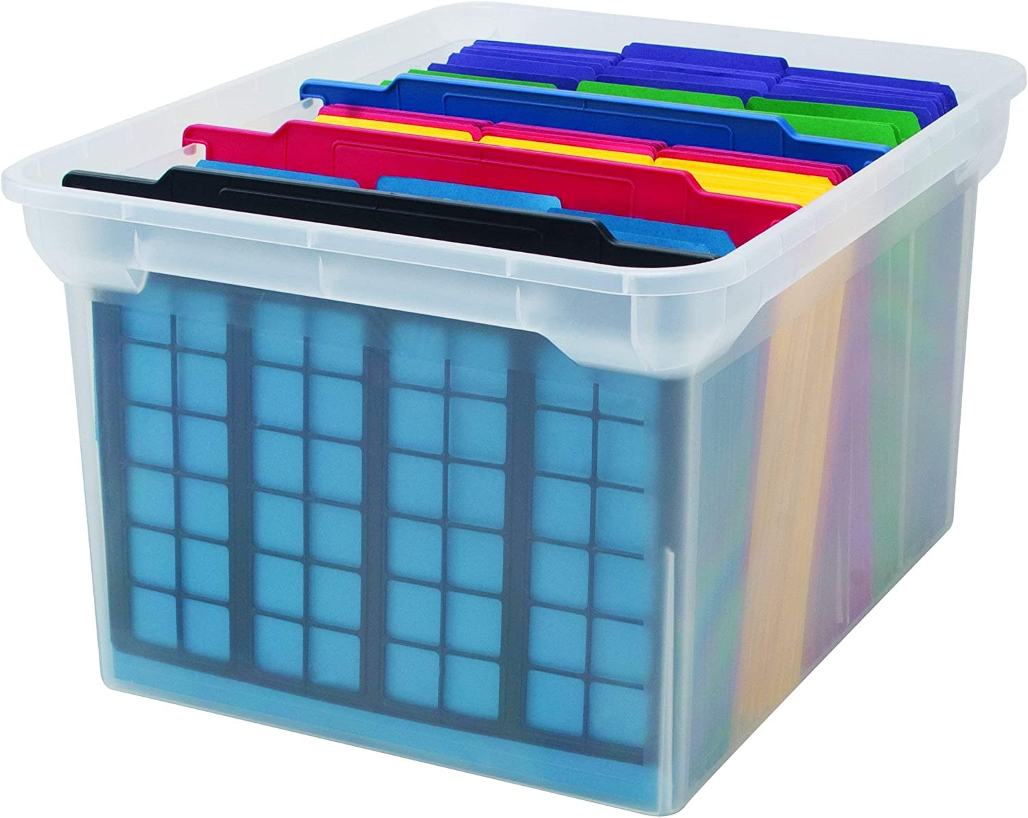 3-Count Advantus File and Folder Dividers and Black 50912 Renewed Blue Red