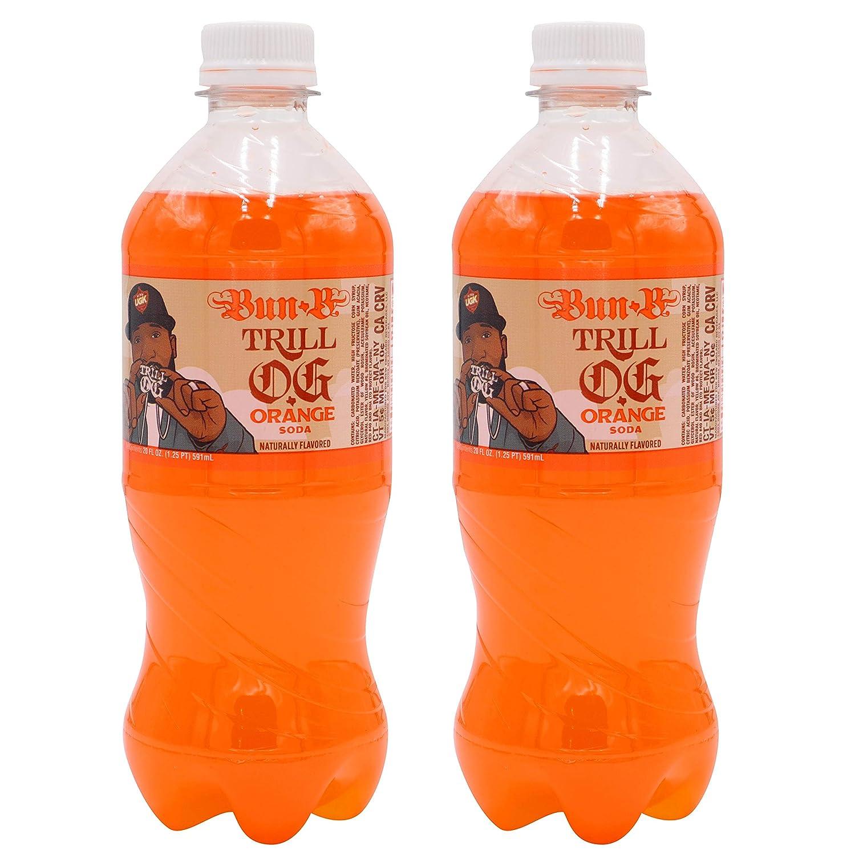 Exotic Pop Trill OG Bun B Orange Soda Fruit Flavor Orange Juice Fizzy Drink 2-Pack