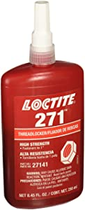 Loctite 88441 271 Threadlockers, High Strength, 250 mL, 1 in Thread, Red