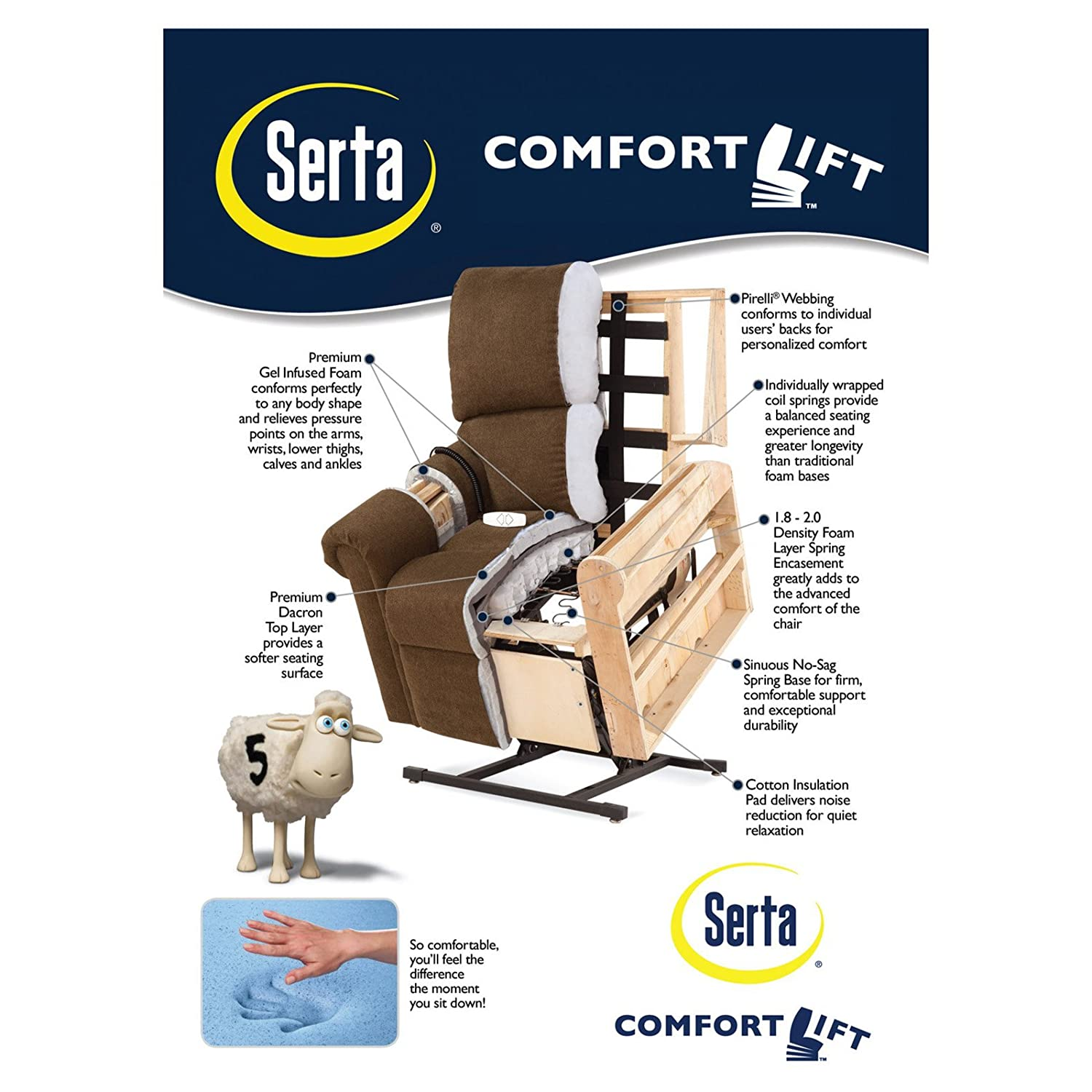 garden today overstock recliner lift chair product mystic serta comfort free shipping reclining home