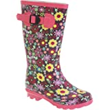 StormWells Girls Strap Wellingtons
