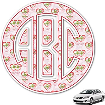 Amazoncom Valentine Owls Monogram Car Decal Personalized - Monogram car decal amazon