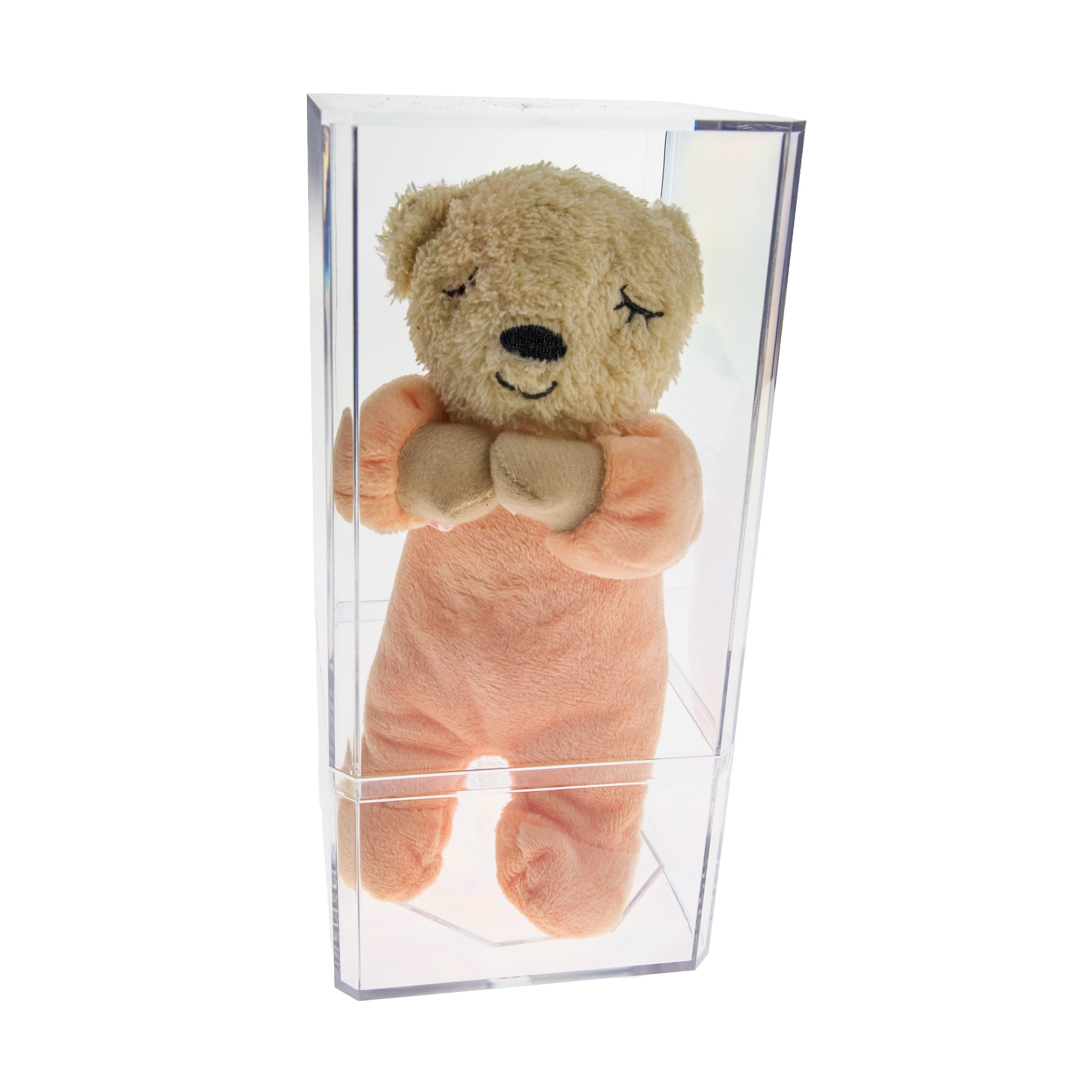 Source One Clear Acrylic Small Doll Case & Stand 8.5 Inches Tall 4 x 4 Inch Base (2 Piece Set, Combo)