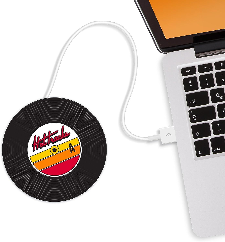 Mustard USB Cup Mug Warmer Coaster - Black Hot Disk (M11015)