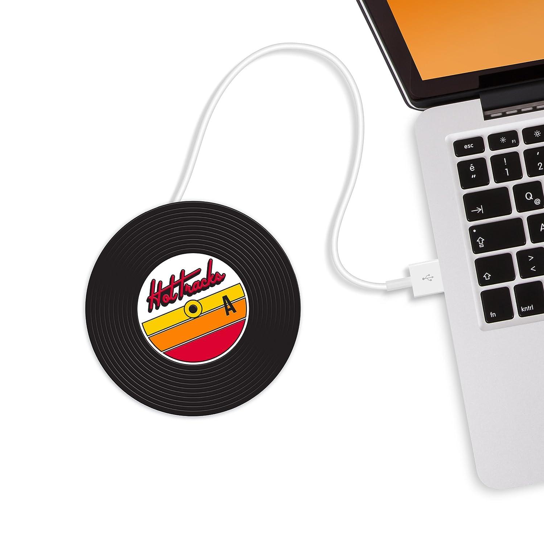 Mustard Hot Tracks - Posavasos Calentador de Tazas USB, Color Negro: Amazon.es: Informática