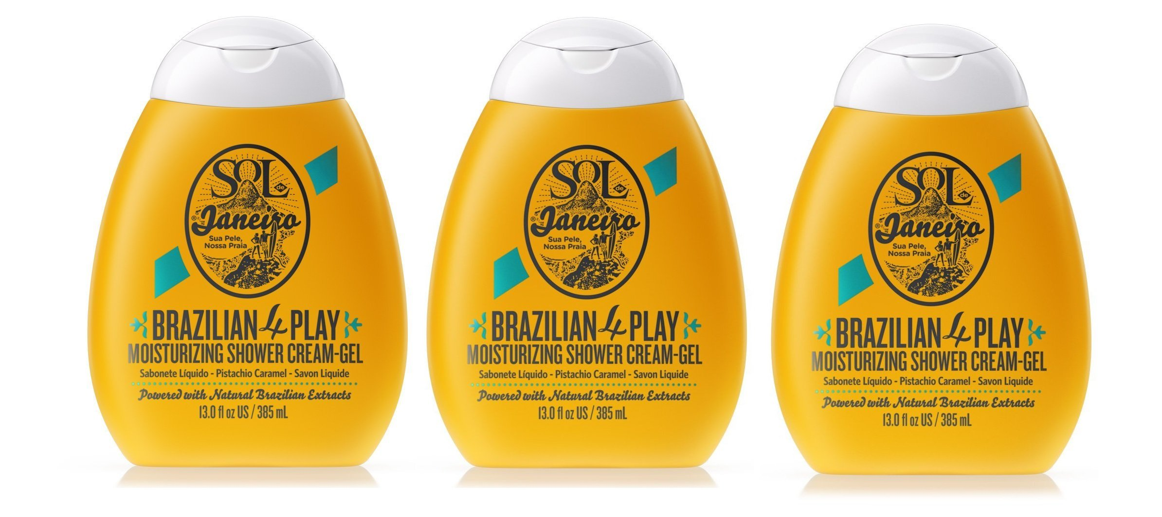 Amazon.com : Sol de Janeiro Brazilian 4 Play Moisturizing Shower Cream-Gel (3 pack) : Beauty