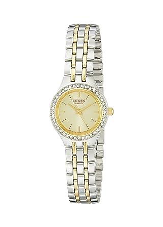 Citizen Women S Quartz Crystal Accent Watch Ej6044 51p