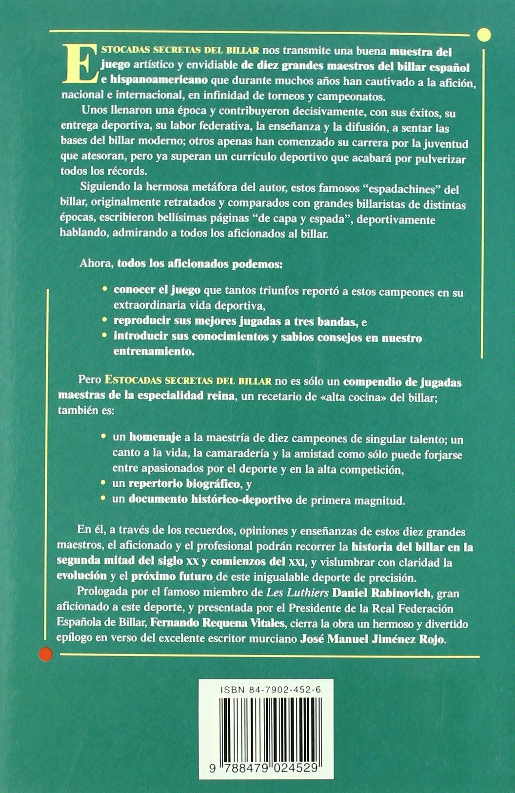 Estocadas secretas del billar: Amazon.es: Quetglas, José María: Libros