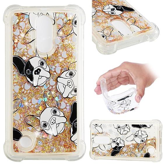 LG K4 2017 Case cover ,Stingna Shockproof Cute Glitter Liquid Quicksand Cases Luxury Covers for LG K4 2017/ Phoenix 3 / Fortune / Aristo / Risio 2 / ...