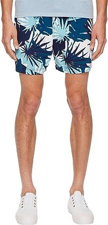 1f23712f4c Onia Men's Charles 5 Cote D¿Azure Palms Swim Shorts Aegean Sea Multi Large