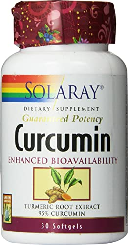 Solaray Curcumin Softgel, 250 mg, 30 Count