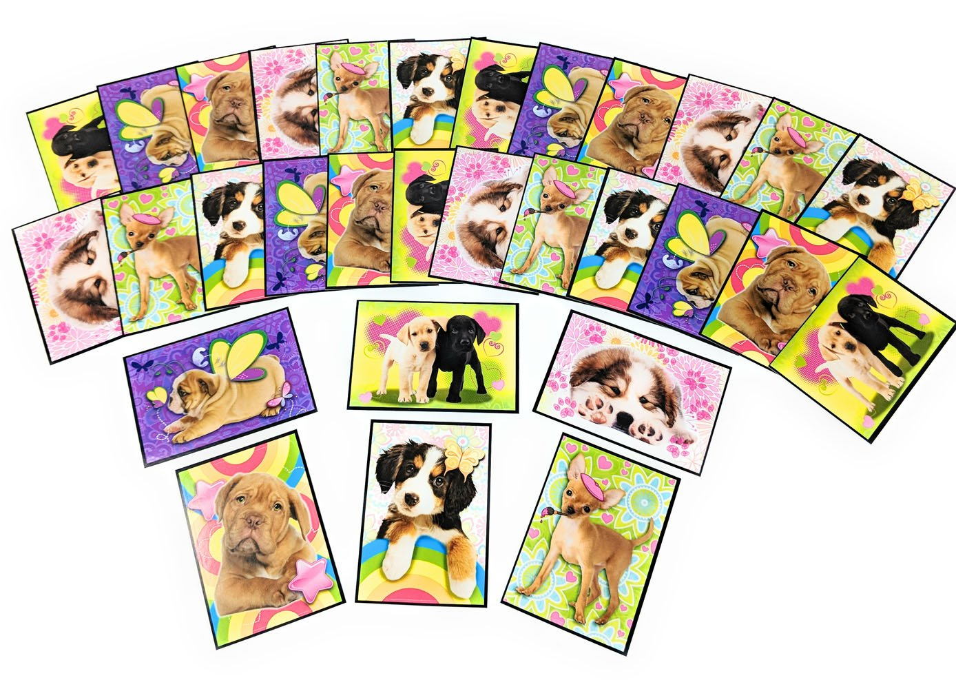 Great for Party Favors or Gifts VSI 30 Large Puppy Stickers