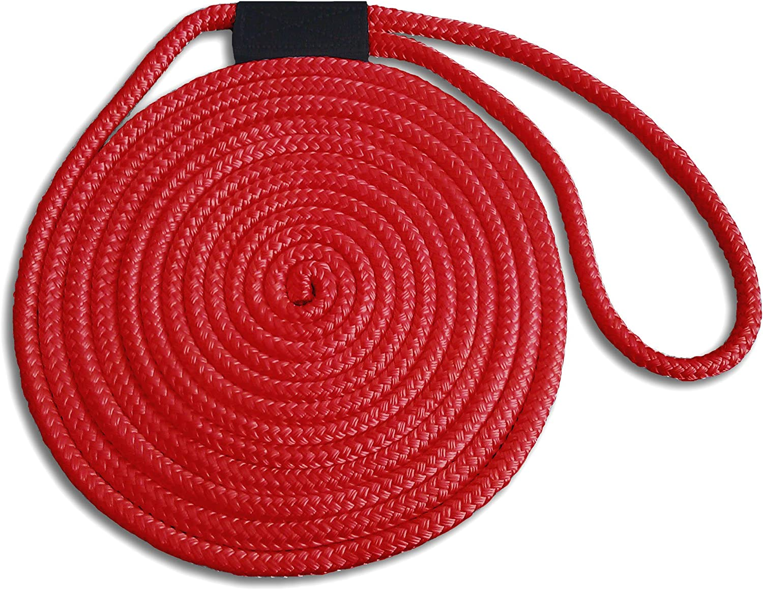 Made in USA 3//8 x 25 Red Double Braid Nylon Dock Line Superior Strength