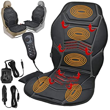 Fusion HEATED BACK SEAT REMOTE CONTROL MASSAGE CHAIR CAR HOME VAN RELAX CUSHION TM