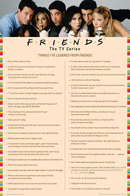 Friends Things I Learned (Drinking Milkshakes) TV Television