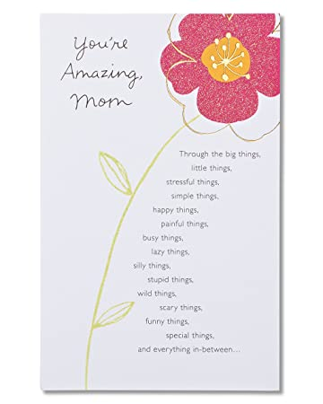 Amazon American Greetings Youre Amazing Birthday Card For Mom With Glitter Office Products