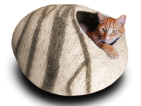 Amazon.com: Cama cueva para gato de Meowfia, de primera ...