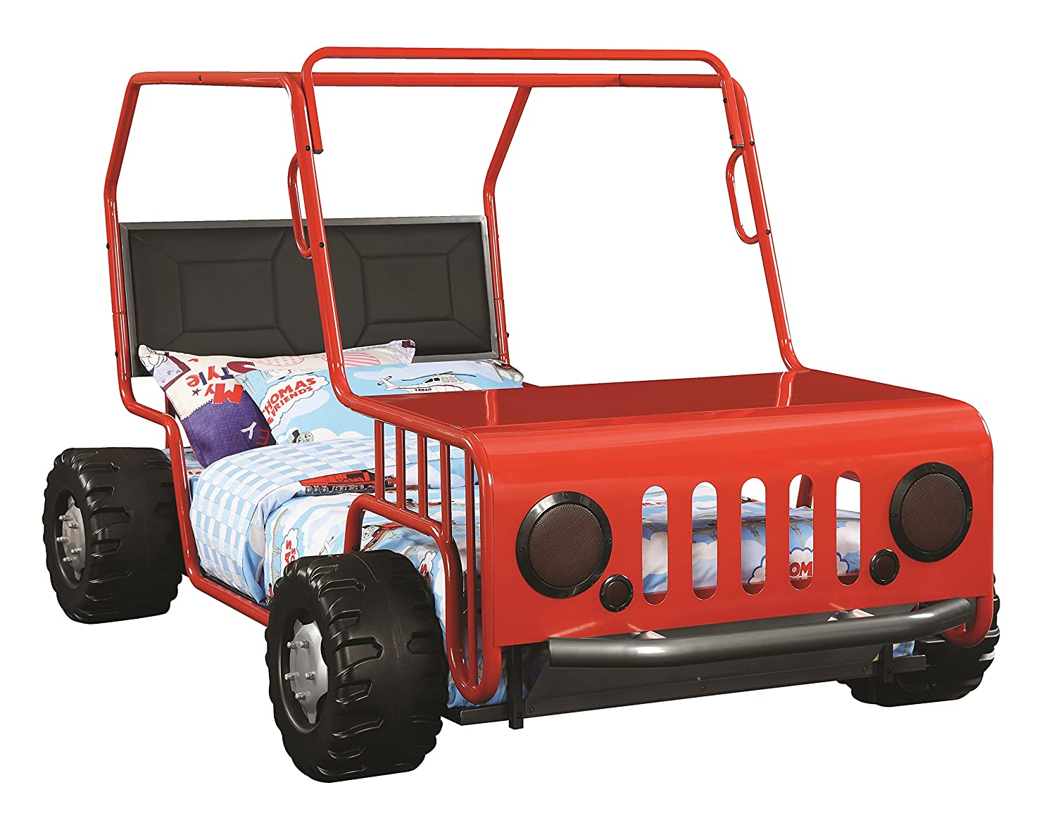 amazoncom jeep car bed red kitchen dining
