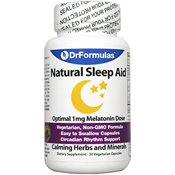 DrFormulas Melatonin 1 mg | Sleep Aid for Kids and Adults with Natural Herbs, L