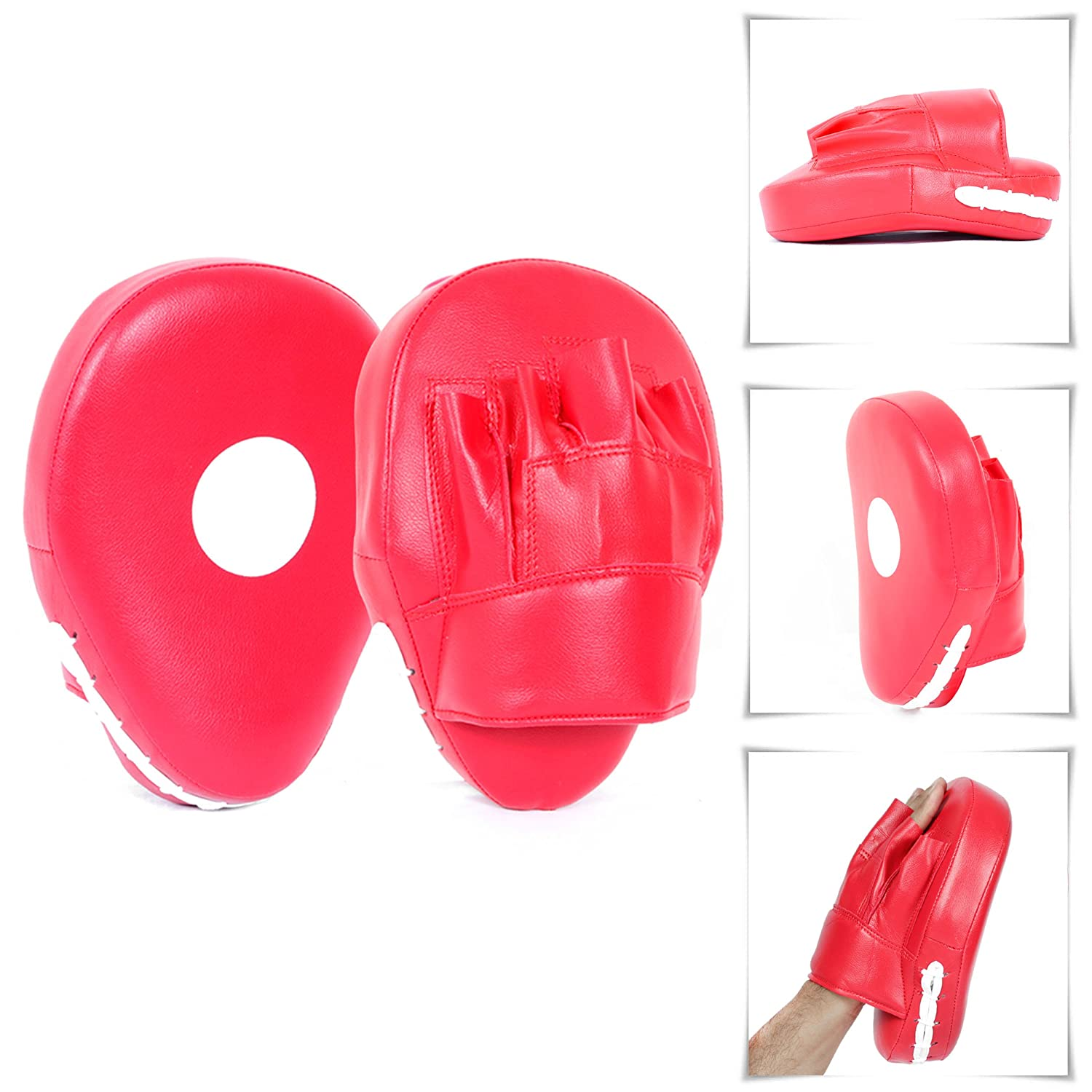 Lions Pink Focus Pads Boxing Gloves Punch Bag Mitts Set