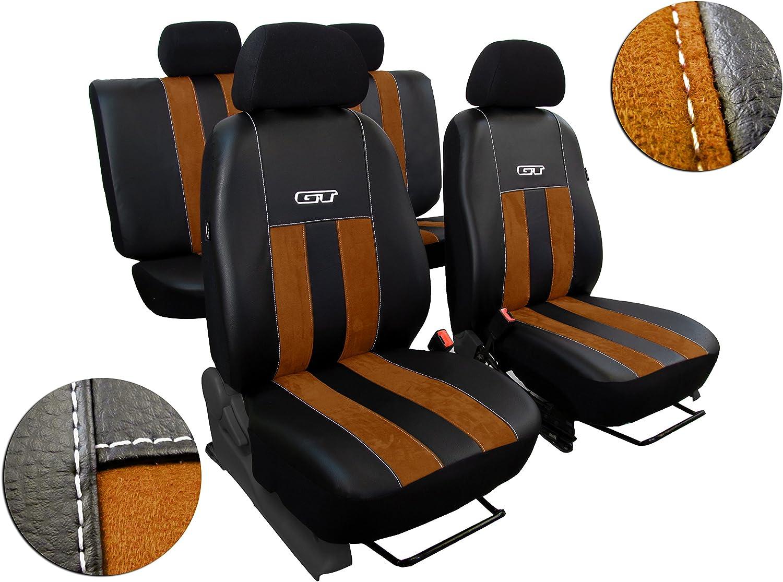 Pokter Alc T5 Multivan 7 Sitzer Maßgefertigte Sitzbezüge Gt Braun Auto