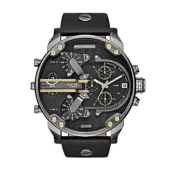 Reloj Hombre Diesel DZ7348 Mr Daddy 2.0 - Piel y Esfera Negro y Dorado: Amazon.es: Relojes