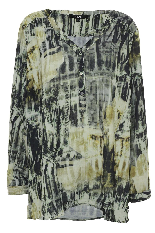 X Two Juju T Shirt Tunika  Damen Lagenlook Viskose Plusgröße Übergröße