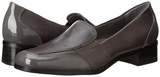 Trotters Arianna Mujer US 7.5 Gris Grande Mocasín NyNVt