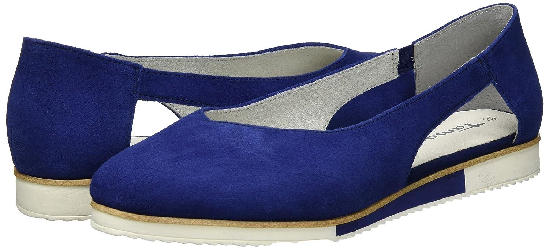 Tamaris 815) Damen 24202 Slipper, Schwarz, 37 EU Blau (Blau 815) Tamaris 2e62c1