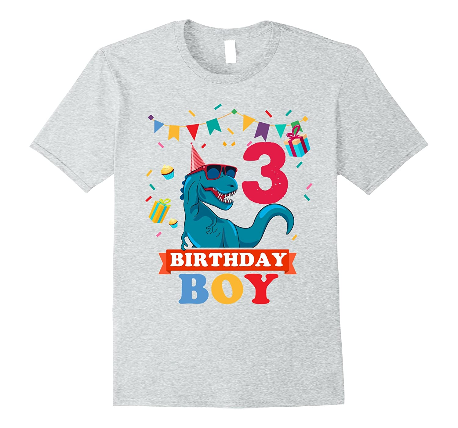 3th Birthday Boy T Shirt Dinosaur RT