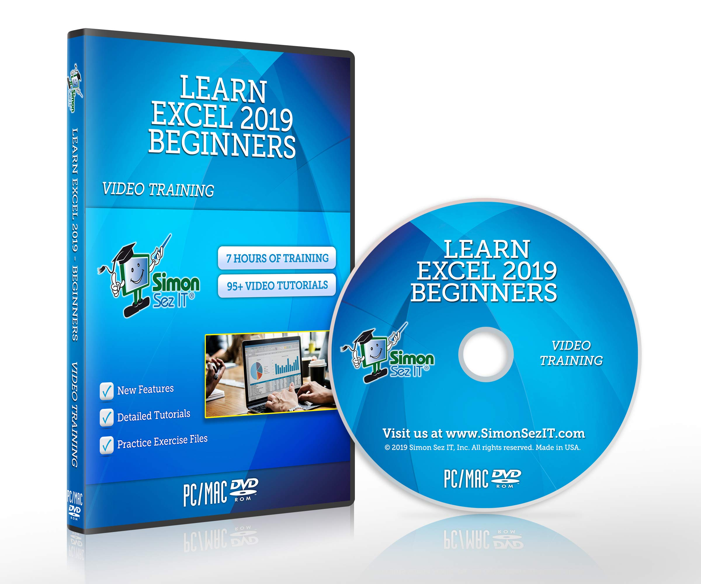 Excel 2019 Training Course by Simon Sez IT: Excel DVD Course For Absolute Beginners - Excel Video Tutorials Including Exercise Files by Simon Sez IT