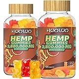 (2 Pack) Hemp Gummies, HOOLOO 2,800,000 high Potency Fruity Hemp Gummy Bears for Relaxing, Stress, Anxiety, Better Sleep & Ca