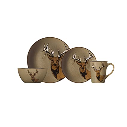 Pfaltzgraff Wildlife 16-Piece Dinnerware Set Service For 4-5189665  sc 1 st  Amazon.com & Amazon.com | Pfaltzgraff Wildlife 16-Piece Dinnerware Set Service ...