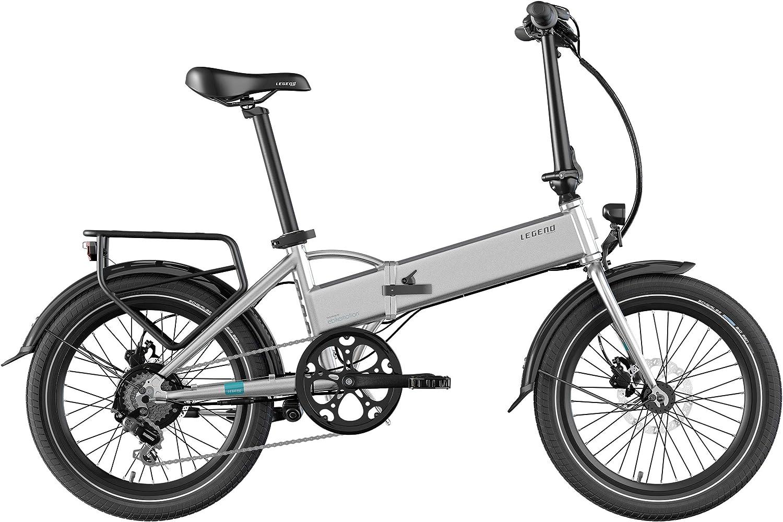 Legend eBikes Bicicleta Eléctrica Plegable Compacta con Rueda de 20 Pulgadas, Batería 36V 14Ah (504Wh), Plata: Amazon.es: Deportes y aire libre