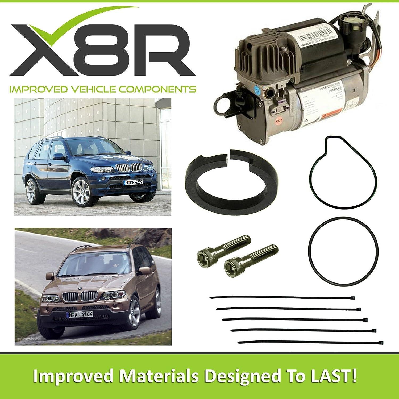 BMW X5, E53 2000 - 2006 Compresor WABCO Suspensión aire pistón anillo reparar Kit de fijación x8r45: Amazon.es: Coche y moto