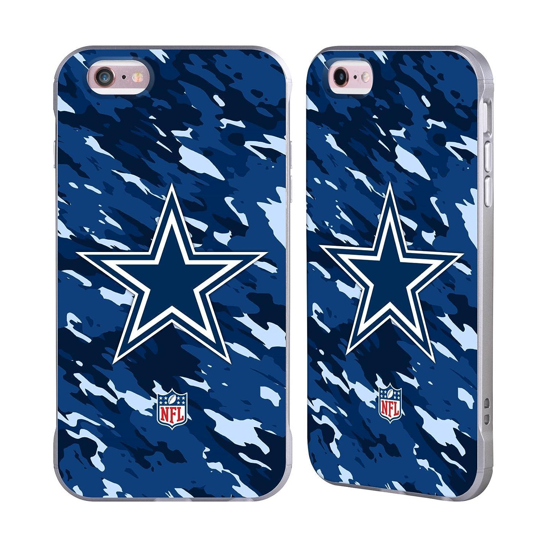 Ufficiale NFL Calcio Dallas Cowboys Logo Argento Fender Case per Apple iPhone 6 Plus/iPhone 6s Plus Head Case Designs H6019-IPH6P-NFLLODAL-FOO