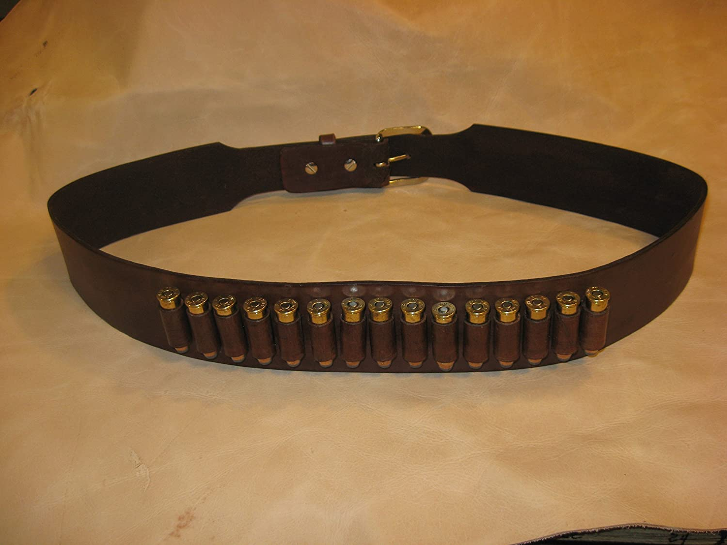 Western Leather Gun Belt with Cartridge Loops Cowboy Gun Slinger Style