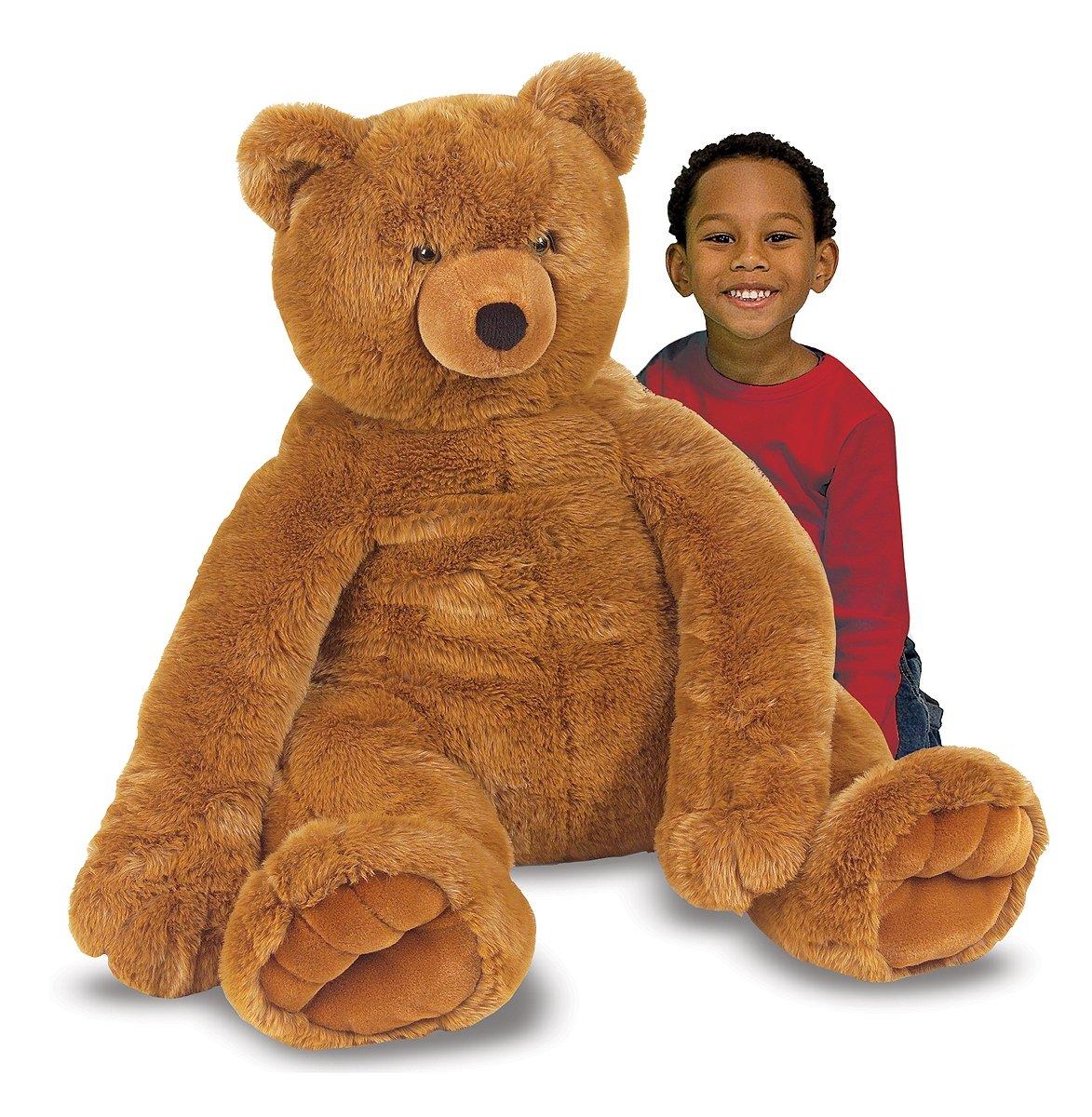 Melissa & Doug Jumbo Brown Teddy Bear
