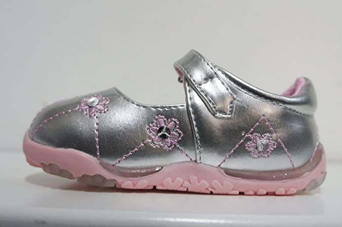 CHILDRENS/GIRLS CUTIE QT SHOES STYLE (Silver/Pink) - H2213: Amazon.co.uk:  Shoes & Bags