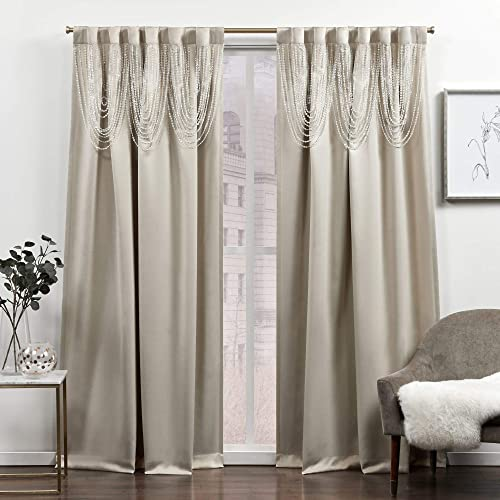 Exclusive Home Curtains Bliss Room Darkening Blackout Hidden Tab Top Curtain Panels