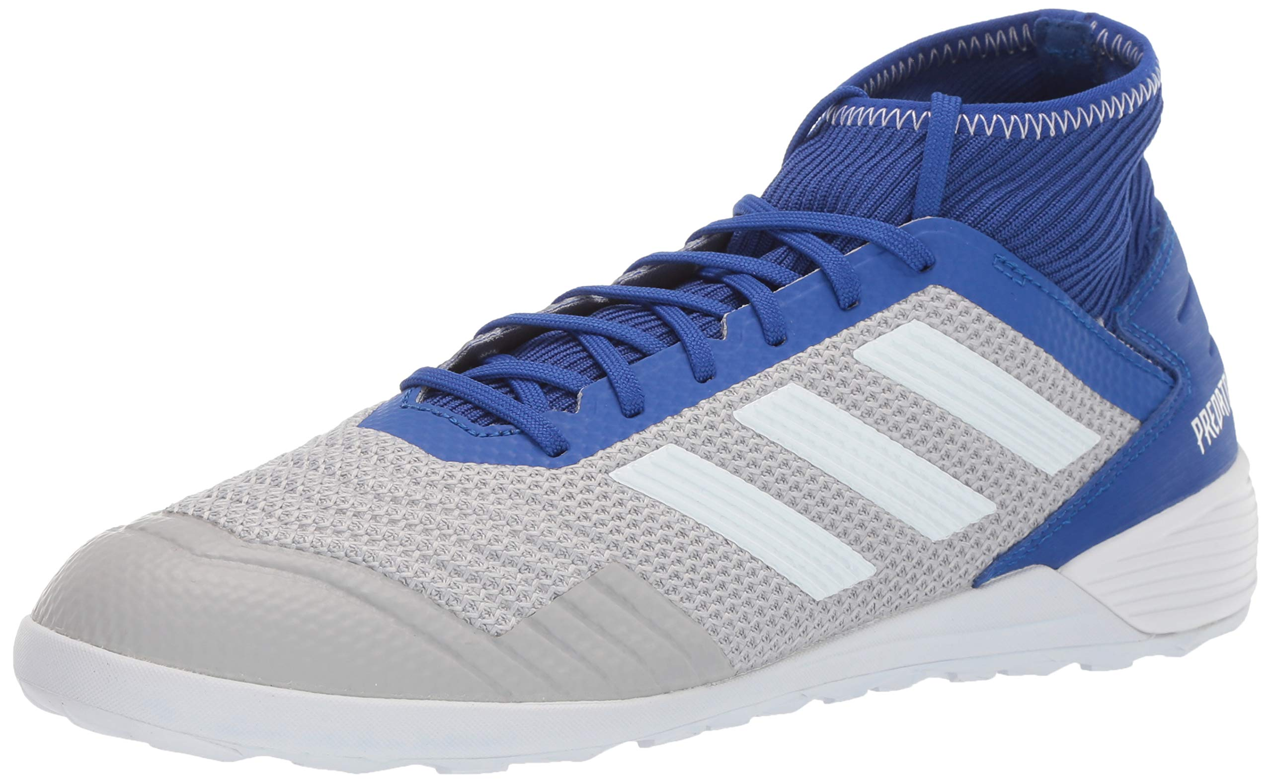 adidas Men's Predator 19.3 Indoor Soccer Shoe Grey/White/Bold Blue 6.5 M US