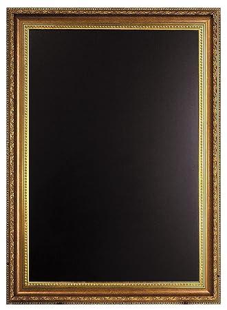 Securit - Pizarra para tiza (65 x 85cm, con marco dorado ...