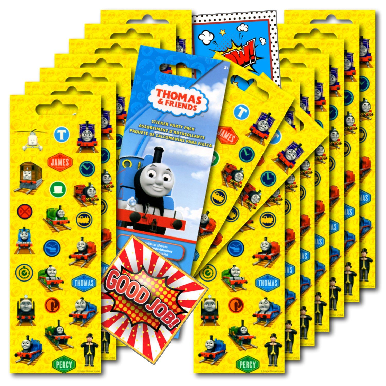 Thomas the Train Stickers Party Favors ~ Set of 2 Sticker Packs ~ 16 Sheets Over 380 Stickers plus Bonus Reward Stickers by Thomas Friends