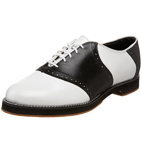 Saddle Shoes History Mens Saddle Dance Benny Oxford Tic-Tac-Toes $108.00 AT vintagedancer.com