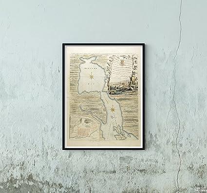 Carte Canada Avec Ville.Amazon Com 1750 Map Canada Nova Scotia Halifax Harbour Harbor
