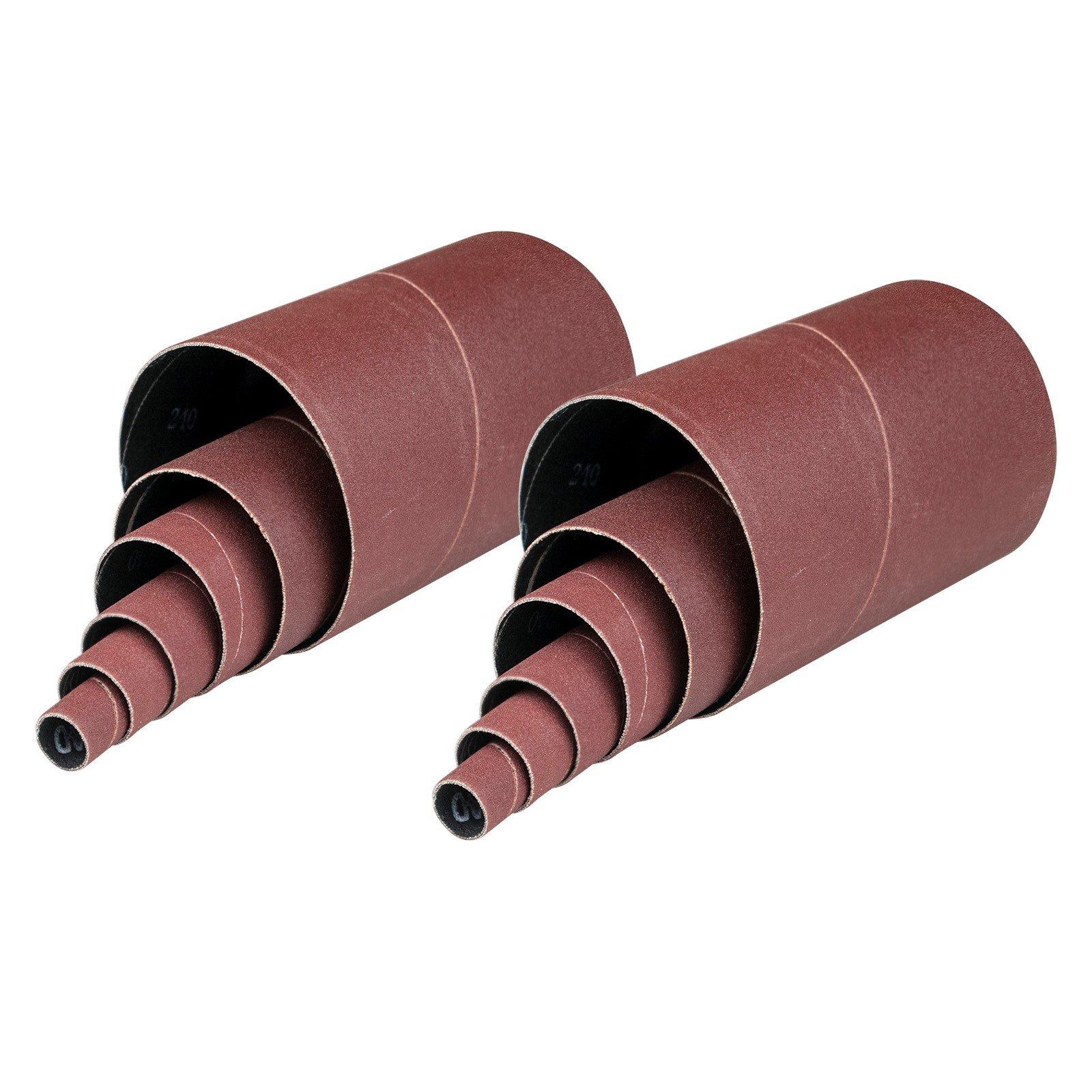 POWERTEC 11220 60 Grit Sanding Sleeves (12 Pack), 4-1/2''