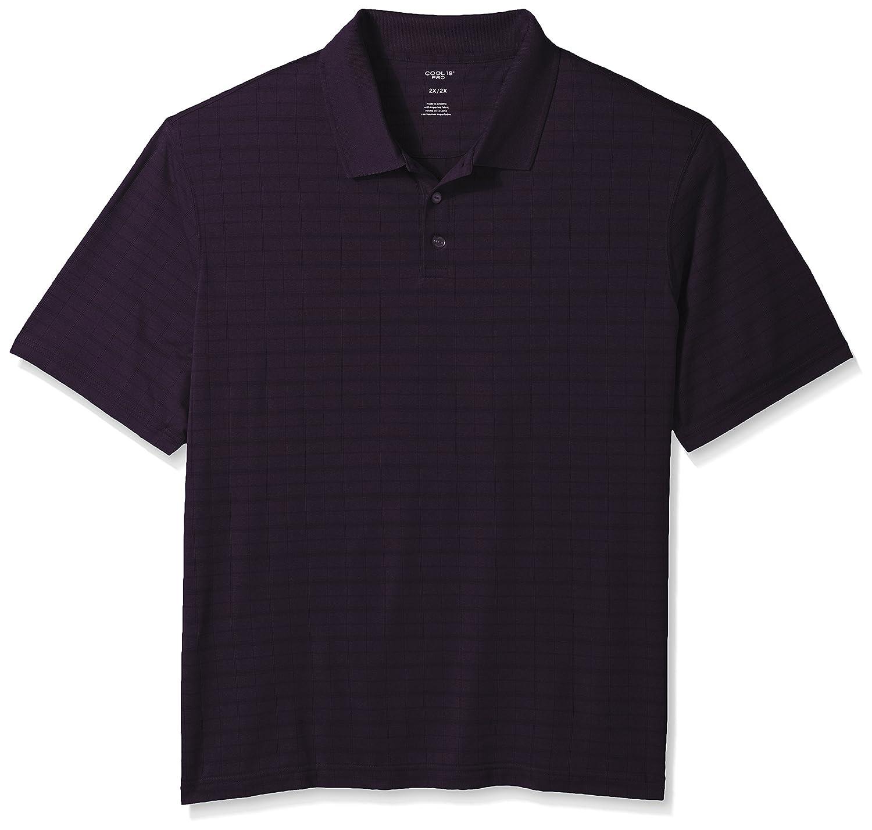 Haggar Mens Big and Tall Big/&Tall Short Sleeve Marled Knit Polo