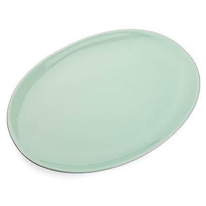"""Vancasso Plato de Porcelana 14 """" Verde Ovalada Placa/ Bandeja para Servir / Carne"""